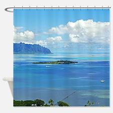Kaneohe Bay Coconut Island Tropical Shower Curtain