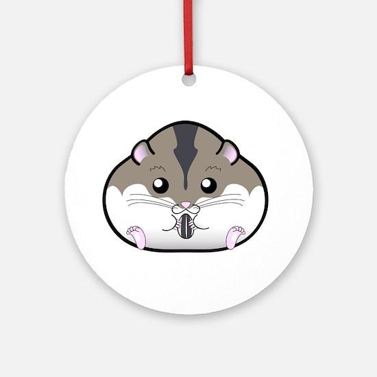 Fat Russian Dwarf Hamster Ornament (Round)