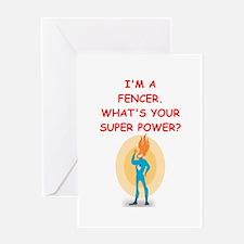 FENCER Greeting Cards