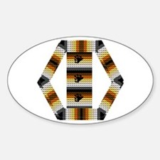 FRAMED BEAR PRIDE FLAGS Oval Decal