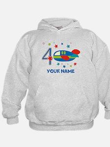 Airplane 4th Birthday Custom Hoodie