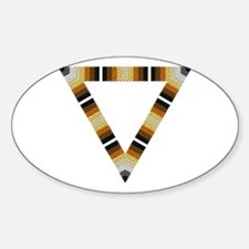 BEAR PRIDE OPEN TRIANGLE Oval Decal