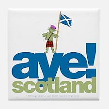Aye Scotland Tile Coaster