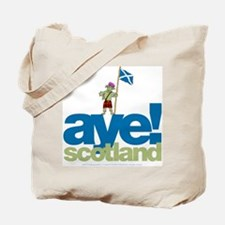 Aye Scotland Tote Bag