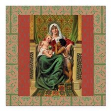 "Virgin Mary Square Car Magnet 3"" x 3"""