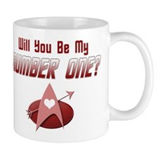 Be My Number One Star Trek Mugs