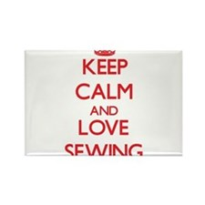 Keep calm and love Sewing Magnets