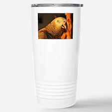 African Grey Parrot in  Travel Mug