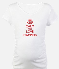 Keep calm and love Stamping Shirt