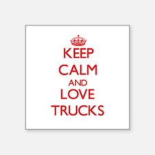 Keep calm and love Trucks Sticker
