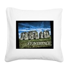 Stonehenge Great Britain Square Canvas Pillow
