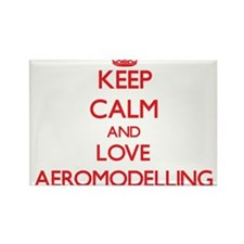 Keep calm and love Aeromodelling Magnets