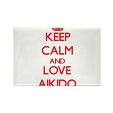Keep calm and love Aikido Magnets