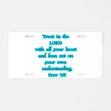 Prov 3:5 Aluminum License Plate