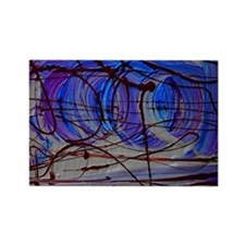 abstract design 2 Rectangle Magnet