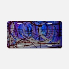 abstract design 2 Aluminum License Plate