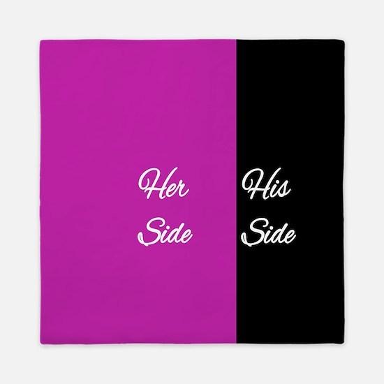 Her Side/His Side Queen Duvet
