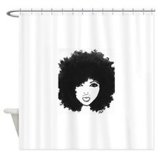 Diva -black and white Shower Curtain
