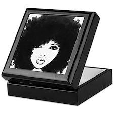 Diva -black and white Keepsake Box