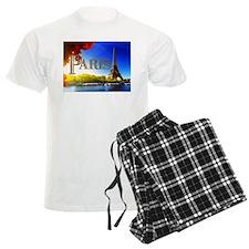 Paris and Eiffel Tower on the Seine. Pajamas