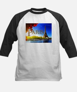 Paris and Eiffel Tower on the Seine. Baseball Jers