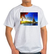 Paris and Eiffel Tower on the Seine. T-Shirt