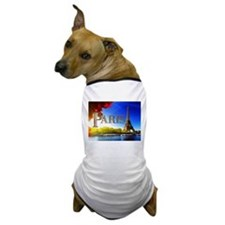 Paris and Eiffel Tower on the Seine. Dog T-Shirt