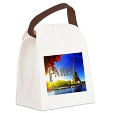Paris and Eiffel Tower on the Seine. Canvas Lunch