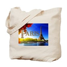 Paris and Eiffel Tower on the Seine. Tote Bag