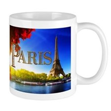 Paris and Eiffel Tower on the Seine. Mugs