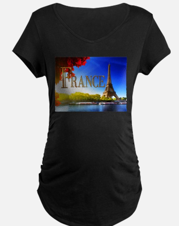 France on the Seine Maternity T-Shirt