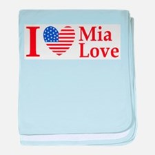 Mia Love I Love large baby blanket