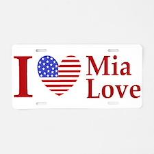 Mia Love I Love large Aluminum License Plate