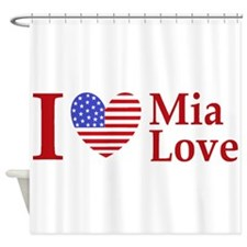 Mia Love I Love large Shower Curtain