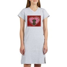 Chocolate Labrador Love Heart Valentine Women's Ni