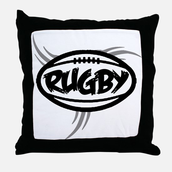 Rugby Tribal Throw Pillow