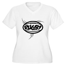 Rugby Tribal Plus Size T-Shirt