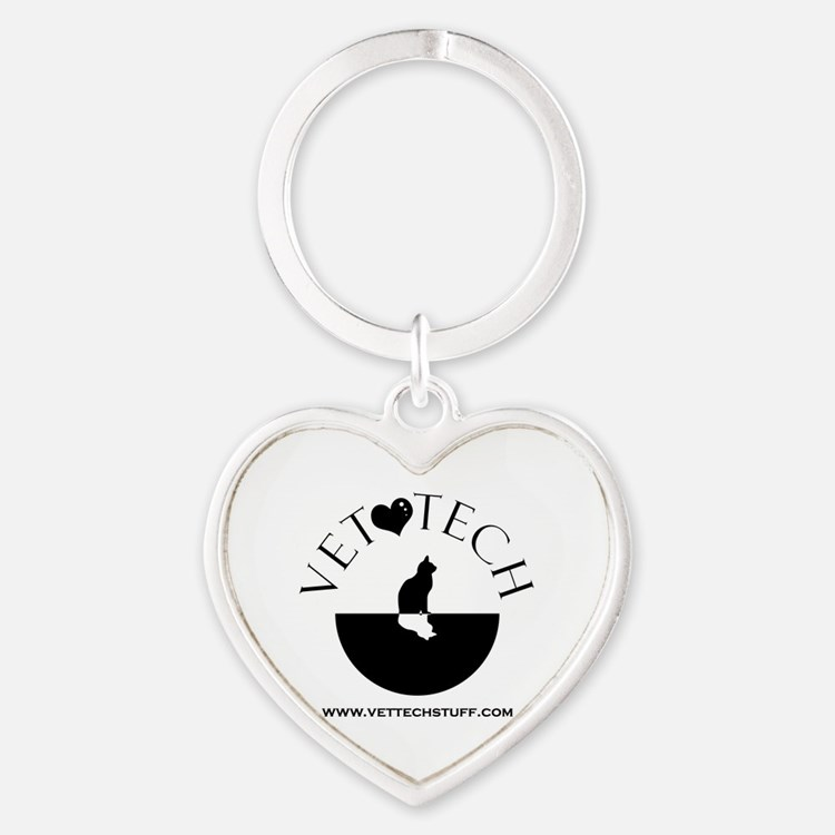 vet tech Heart Keychain
