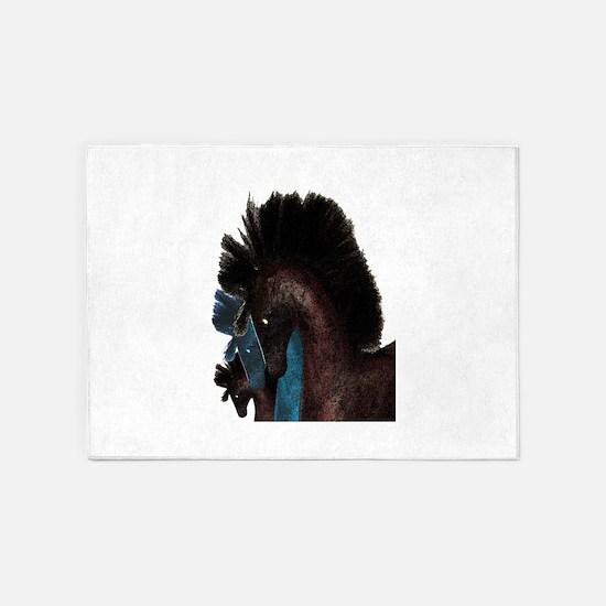 The Horses 5'x7'Area Rug