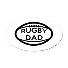 Rugby Dad Oval Car Magnet