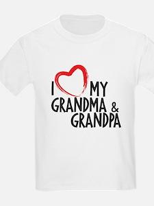 I Heart my grandma and grandpa, I love grandma and
