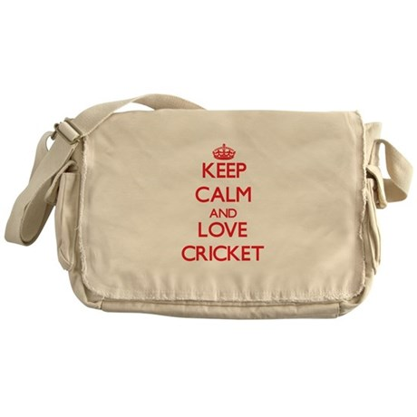 Keep calm and love Cricket Messenger Bag