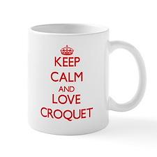 Keep calm and love Croquet Mugs