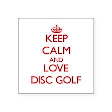 Keep calm and love Disc Golf Sticker