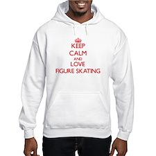 Keep calm and love Figure Skating Hoodie