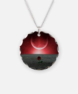 Rose and Planet - Love Theme Necklace