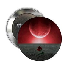 "Rose and Planet - Love Theme 2.25"" Button"
