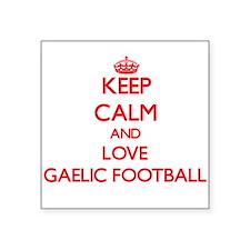 Keep calm and love Gaelic Football Sticker