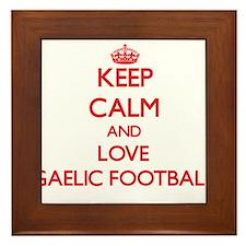 Keep calm and love Gaelic Football Framed Tile