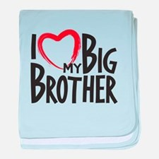 I heart my Big Brother baby blanket